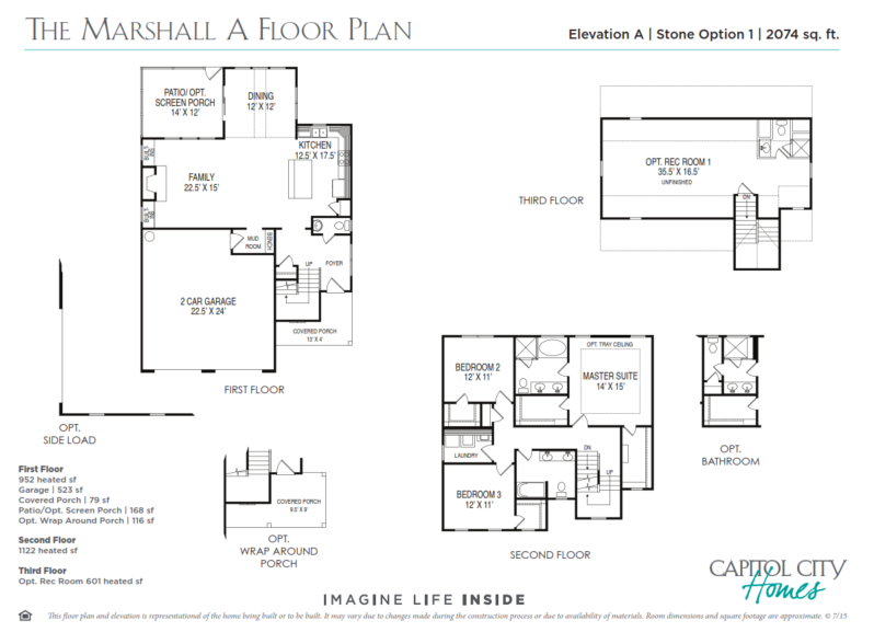 New home floorplan the marshall capitol city homes - The marshall plan was designed to ...