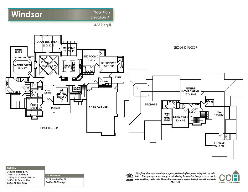 New home floorplan the windsor capitol city homes for Windsor homes floor plans