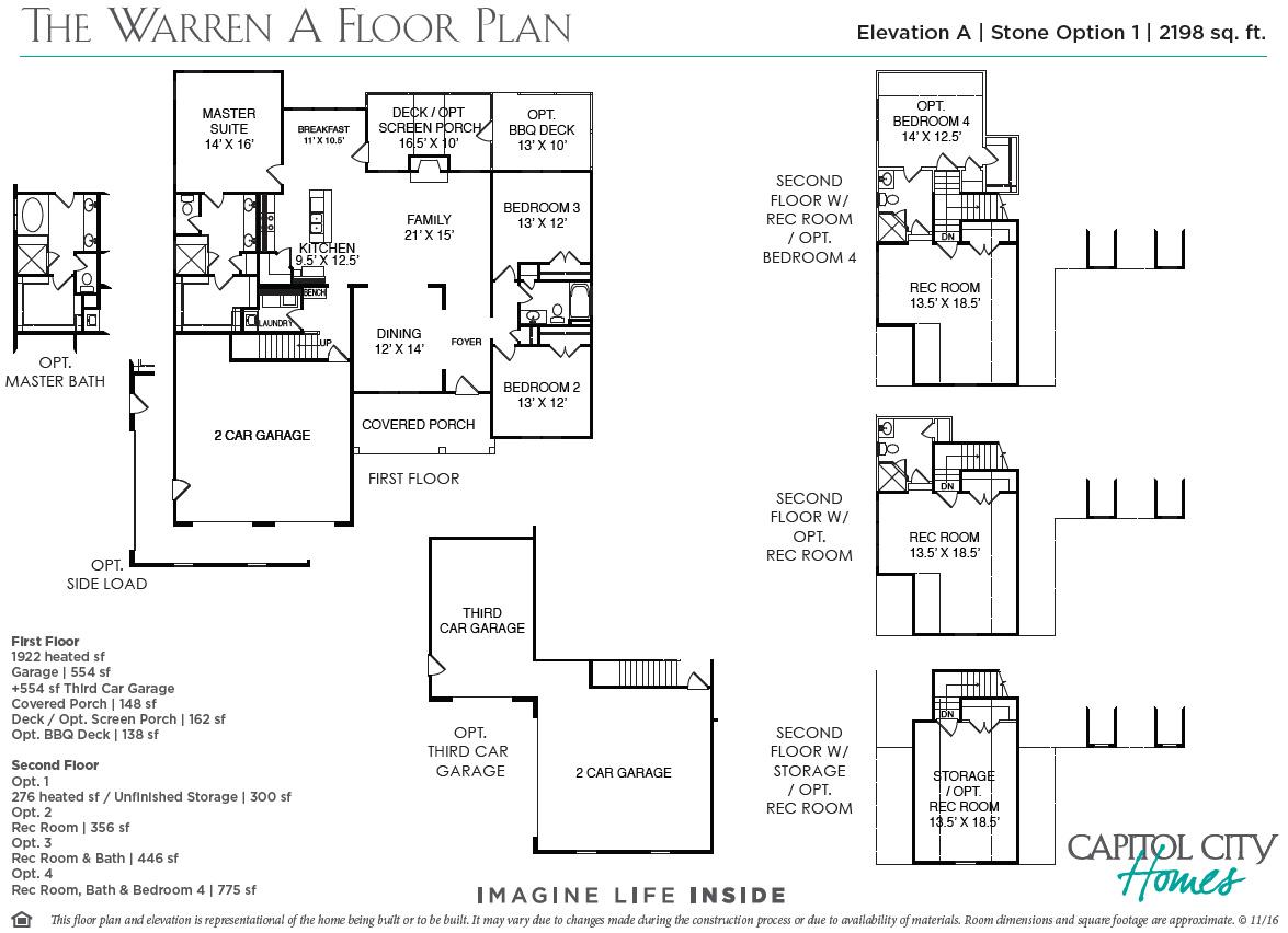 New Home Floorplan The Warren Capitol City Homes